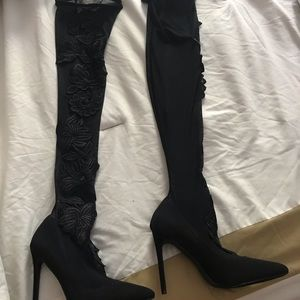 New over the knee stocking shoes